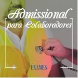 exame admissional para colaboradores Salto de Pirapora